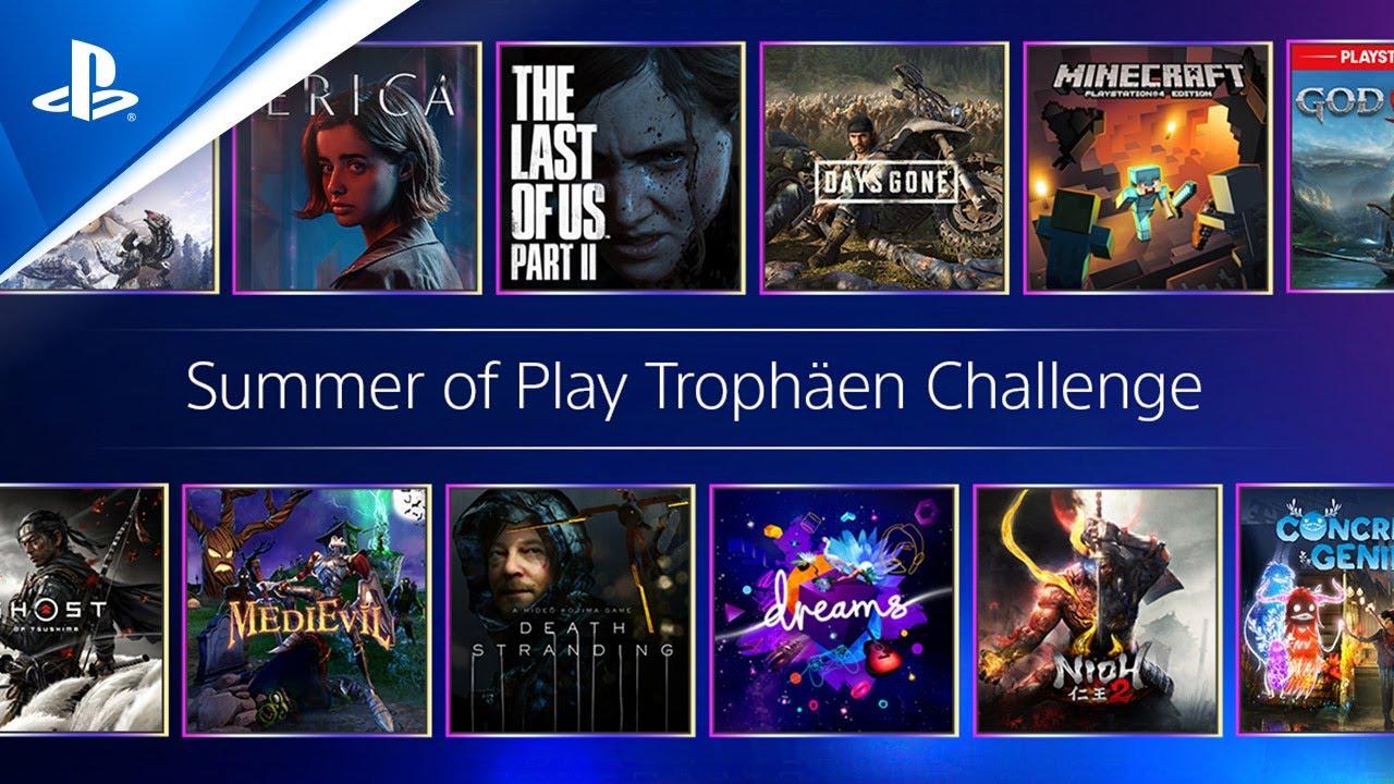 Macht mit bei der Summer of Play Trophäen Challenge