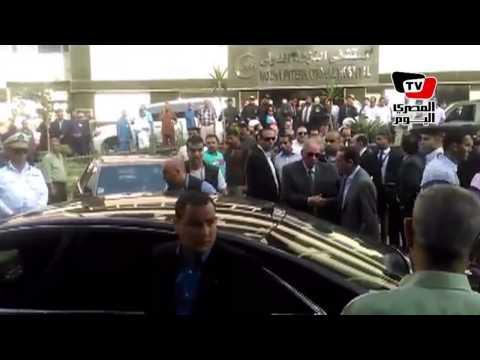 «محلب» و«الزند» في مستشفى النزهة لتفقد جثمان النائب العام
