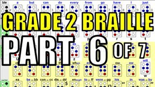 Grade 2 Braille [6/7] - Rules for Braille Writing & Braille Memory Aides