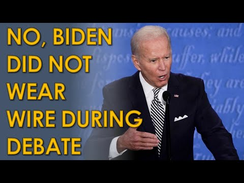 No, Joe Biden was NOT Wearing a Wire During the First Debate with Trump