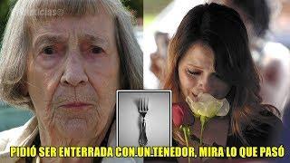 Mujer pidió ser enterrada con un tenedor en la mano, la razón hizo conmover a todo el mundo.