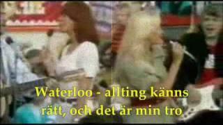 ABBA - WATERLOO (swedish version with lyrics)