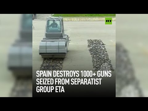 Spain destroys 1000+ guns seized from separatists