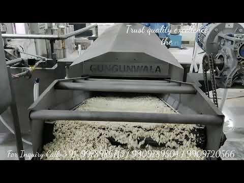 Continuous Namkeen Fryer with Wooden Heat Exchanger