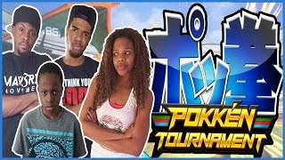 GLITCHY DOG POKEMON!! - Family Beatdown I Pokken Tournament Gameplay