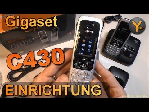 Einrichtung & Funktionen: Gigaset C430 / C430A DECT Schnurlos-Telefon mit Anrufbeantworter