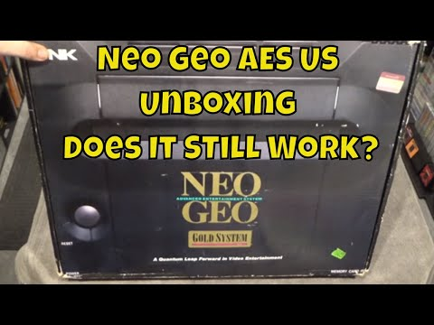 Neo Geo AES US Gold Unboxing & Testing