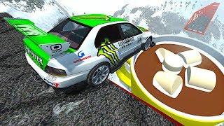 Beamng drive - Open Bridge Crashes over Giant HOT CHOCOLATE Milk Cup #5