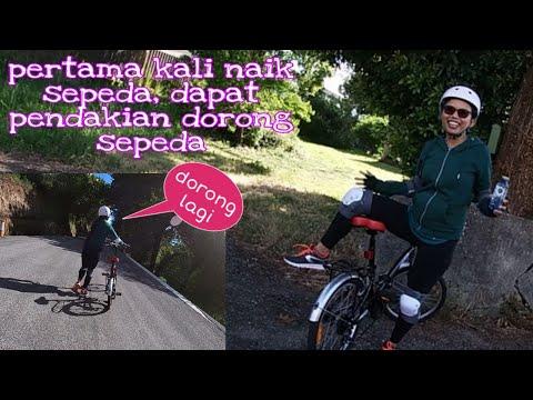 Pertama kali naik sepeda dapat pendakian dorong sepeda || Retiani martinus