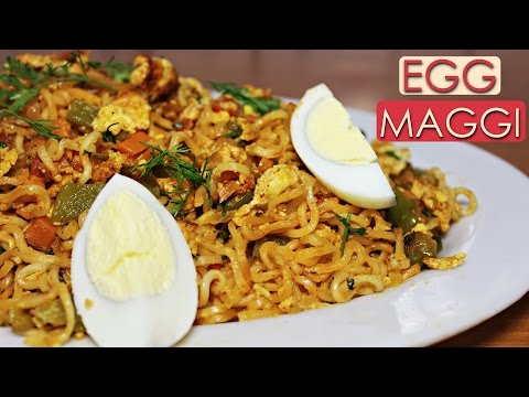 Egg Maggi Recipe | Easy and Quick Breakfast Recipe | Midnight Food Ideas | Kanak's Kitchen