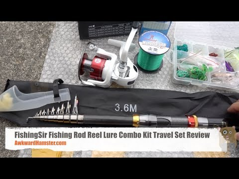 FishingSir Fishing Rod Reel Lure Combo Kit Travel Set Review