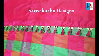latest double color saree tassels/kuchu making in 5 minutes at home