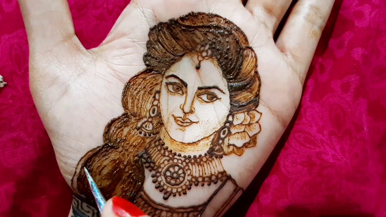 simple and easy bridal mehndi design by jyoti