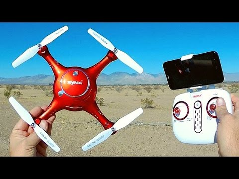 Syma X5UW Altitude Hold Camera Drone Flight Test Review