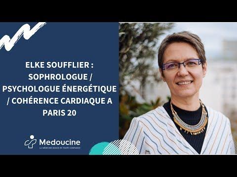 ✔️Elke SOUFFLIER :  SOPHROLOGIE / PSYCHOLOGIE ENERGETIQUE / COHERENCE CARDIAQUE A PARIS 20✔️