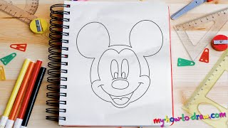 How To Draw Mickey Mouse - Easy Step-by-step Drawing Lessons For Kids