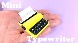DIY Miniature Typewriter - Doll Crafts