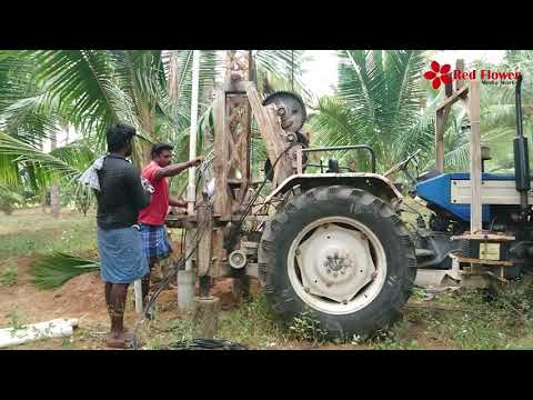Bore well motor installation and removing for repair using Tractor mounted Crane