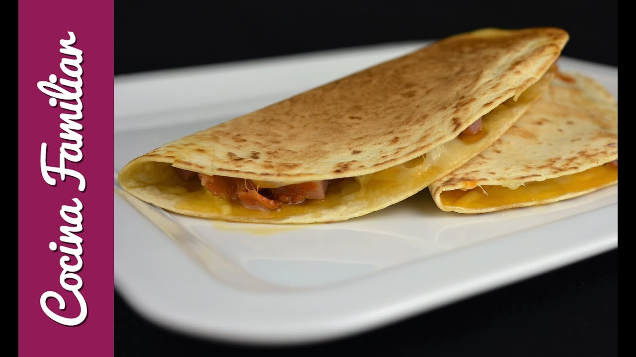 Quesadillas de jamón, bacon y queso | Javier Romero