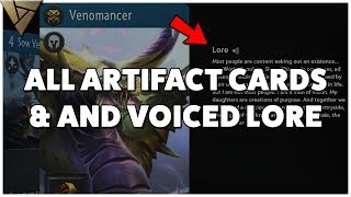 Artifact - All Cards Revealed with Voiced Lore