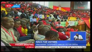President Uhuru suspends jubilee voter drive to maximize voter registration