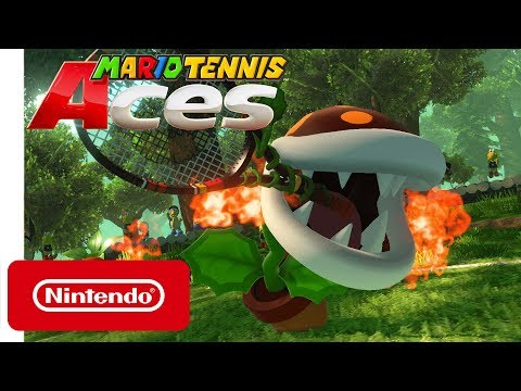 Fire Piranha Plant coming in hot as next Mario Tennis Aces DLC character