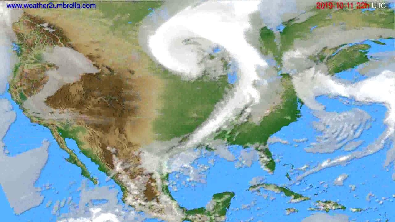 Cloud forecast USA & Canada // modelrun: 00h UTC 2019-10-09