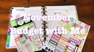 BUDGET WITH ME | November Budget In My Happy Planner