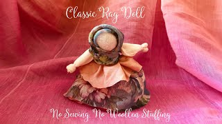 How To Make A Rag Doll For Beginners || Simple Waldorf Doll Without Sewing