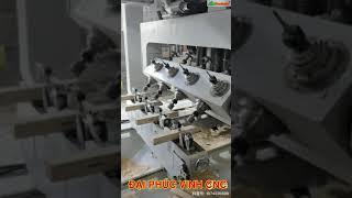 MÁY LÀM MỘNG ÂM DƯƠNG CNC 16 Dao 4 dàn kẹp phôi Woodmaster