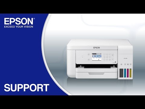 Epson EcoTank ET-3710 | Wireless Setup Using the Control Panel