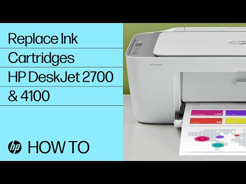 Replacing the Ink Cartridges on HP DeskJet 2700 & DeskJet Plus 4100 Printers