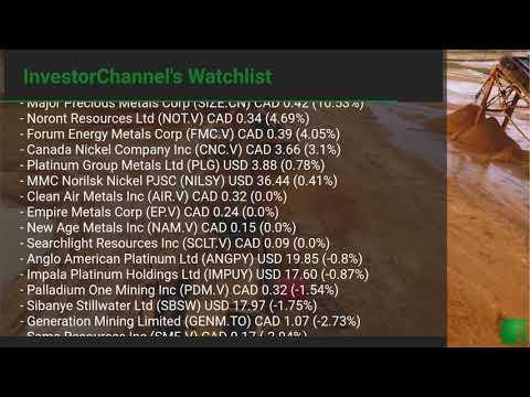 InvestorChannel's Palladium Watchlist Update for Monday, J ... Thumbnail