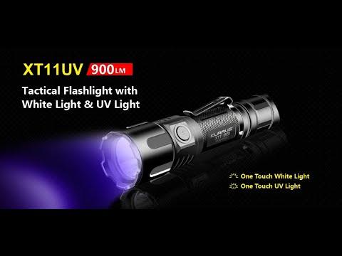 Klarus XT11UV taktische Taschenlampe mit UV Licht