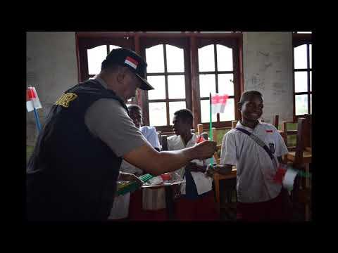 Binmas Noken Polisi Pi Ajar di Distrik Paniai Timur, Kabupaten Paniai