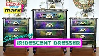 Iridescent Dresser Makeover