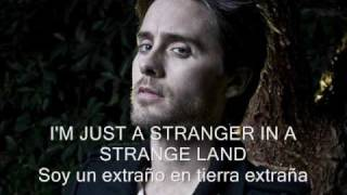 30 seconds to mars - stranger in a strange land - subtitulada en español e inglés