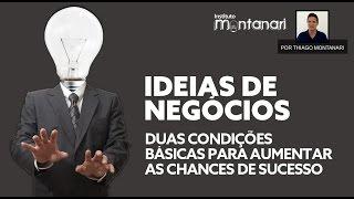 IDEIAS DE NEGÓCIOS: condições para aumentar as chances de SUCESSO de ideias de negócios...