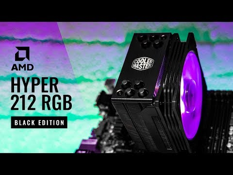 HOWTO Cooler Master Hyper 212 RGB Black Edition AM4 Install Guide