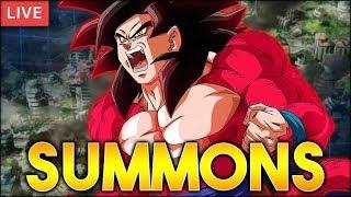 4,300 STONES! SUMMONS FOR ULTRA FULL POWER SSJ4 GOKU! (DBZ: Dokkan Battle)