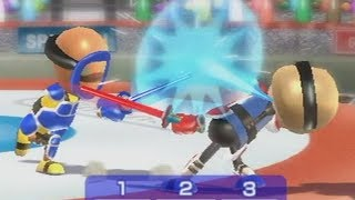 wii sports resort swordplay duel raging and funny moments