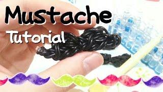 DIY Mustache Charm Using Rainbow Loom-ORIGINALDESIGN {RainbowLoom  CraftyMints}
