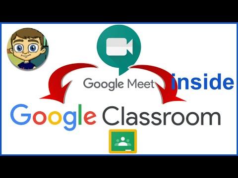 Using Google Meet inside Google Classroom