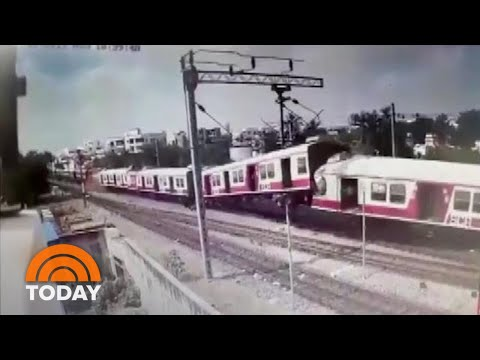 Head-On Train Collision Caught On Camera | TODAY