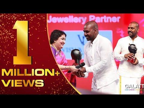 Raghava Lawrence winning HUMANITARIAN OF THE YEAR | Galatta Nakshatra Awards