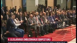 Başdenetçi Şeref Malkoç Ombudsmanlık Sempozyumunda Konuştu