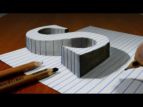 3d art drawing s on line paper by sonhos com dimensao