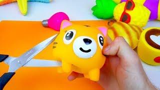 Что внутри Сквиши? Режу игрушки Антистресс Squishy Toys