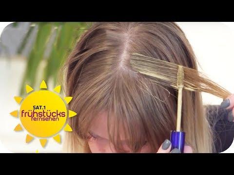 Erste Hilfe für den Haaransatz: der Alltagstest   SAT.1 Frühstücksfernsehen   TV