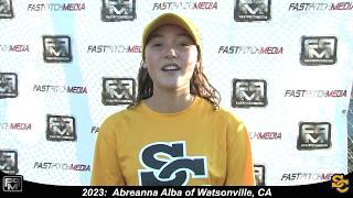 2023 Abreanna Alba Shortstop and Outfield Softball Skills Video - Ca Suncats